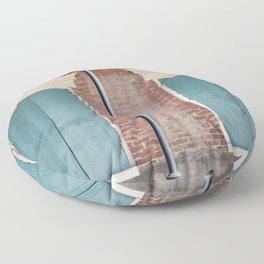 Brick and Blue Floor Pillow