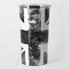 Black UK flag Travel Mug