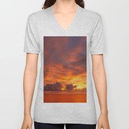 Burning Sunset Unisex V-Neck