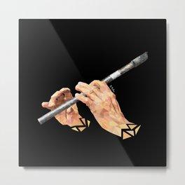 Tin Whistle Metal Print