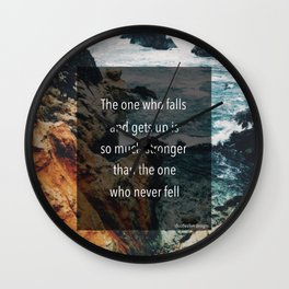 Get up Stronger Wall Clock