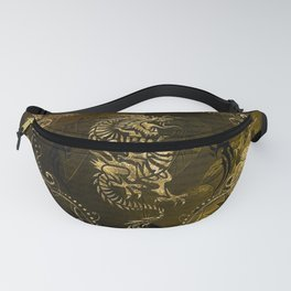 Wonderful golden chinese dragon Fanny Pack