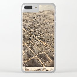 Map Of Danbury 1875 Clear iPhone Case