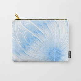 Blue White Flower | Abstract digital painting, cute floral pattern, pretty pastel flowers Carry-All Pouch