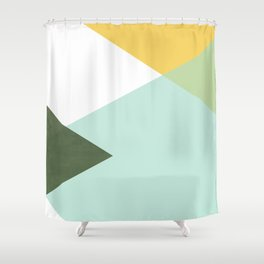 Geometrics - citrus & concrete Shower Curtain