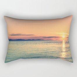 Pastel Sunset Calm Blue Water Rectangular Pillow