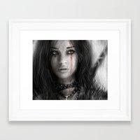 warrior Framed Art Prints featuring Warrior by Justin Gedak