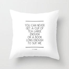 C S Lewis Quote Throw Pillow