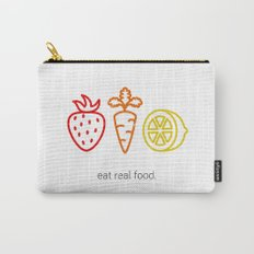 Eat Real Food. (light) Carry-All Pouch