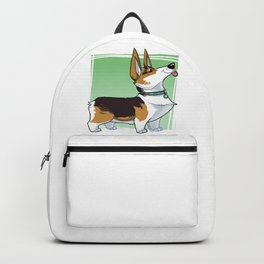 Lizbeth the Corgi Caricature Backpack