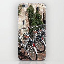 Bikes Along a Brick Wall iPhone Skin