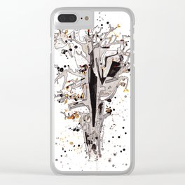 Squirrel in the Old Tree Clear iPhone Case