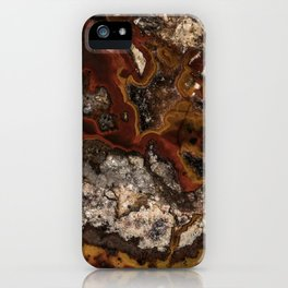 Twisted patterns of brown, red and beige stone iPhone Case