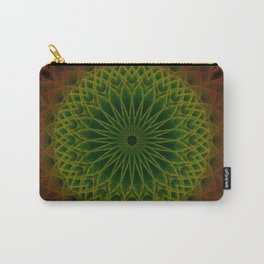 Mandala in green and red tones Carry-All Pouch