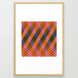 Shifting cubes Framed Art Print