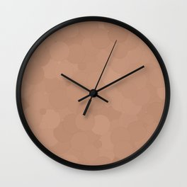 Cafe au Lait Bubble Dot Color Accent Wall Clock