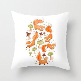 Little Foxes Throw Pillow