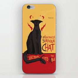 d'Electricité Statique Chat [Staticat] iPhone Skin