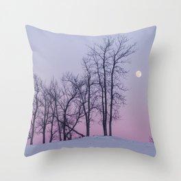 Winter comes to Sandbanks Throw Pillow