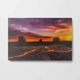 Moonrise at Monument Valley (USA) Metal Print