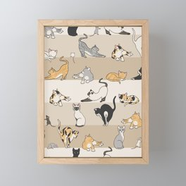 Cat & Mouse Framed Mini Art Print