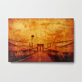 Brooklyn Burning Metal Print