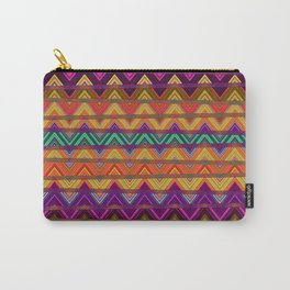 Retro Vibrant Lines Print 1 Carry-All Pouch