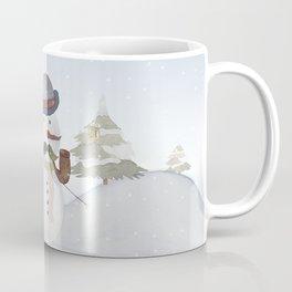 Winter Wonderland - Funny Snowman and friends - Watercolor illustration III Coffee Mug