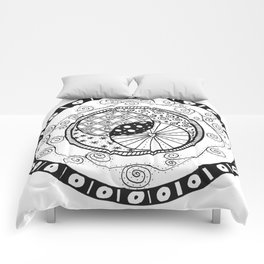 Circle Doodle Comforters