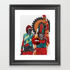 Native Love  Framed Art Print