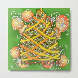 Happy Christmas Tree for 2014 Metal Print