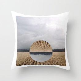 Midwest Autumn Horizon - Flip Throw Pillow