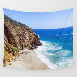 Malibu Beach Photography Wall Tapestry
