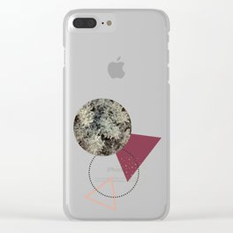 Golden Snow #society6 #decor #pink Clear iPhone Case