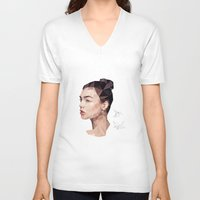 origami V-neck T-shirts featuring Origami by modia