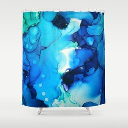 B L U E S Shower Curtain