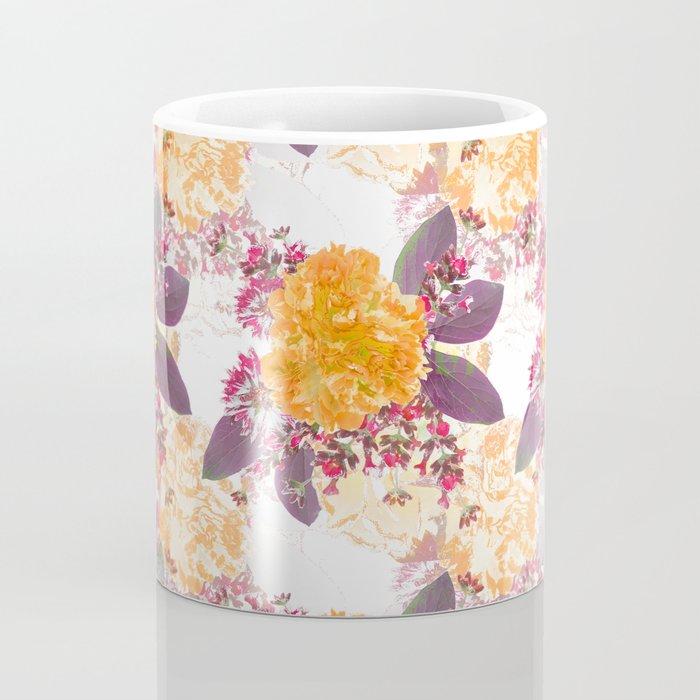 Retro Summer Flower Bouquet On White Background #decor #society6 #buyart Coffee Mug