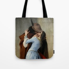 kiss and hug Tote Bag