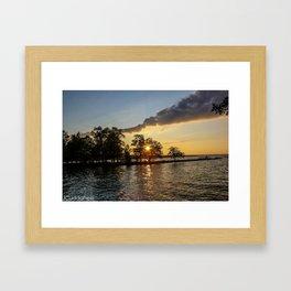 Cayuga Lake Sunset  Framed Art Print