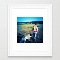 indiana Framed Art Prints featuring Indiana by Peacockbutterfly  Art