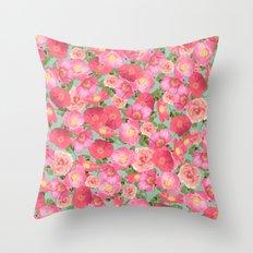 Flora Collage I Throw Pillow