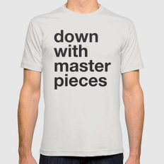 down with masterpieces Silver Mens Fitted Tee LARGE