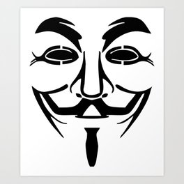 Anonymous Vendetta Art Print