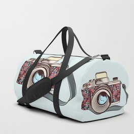 Beautiful pretty gurlish camera with flowers Duffle Bag