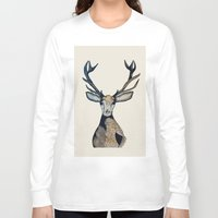 stag Long Sleeve T-shirts featuring Stag by The Art Hutch