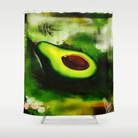 avocado Shower Curtains featuring Avocado by Marven RELOADED