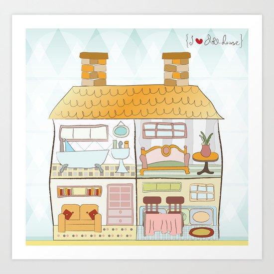 I {❤} Dollhouse Art Print