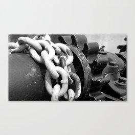 Dam Gear Chains Canvas Print