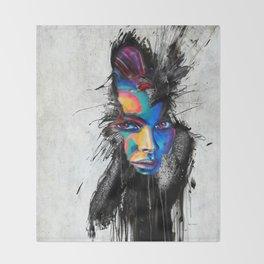Facial Expression Throw Blanket