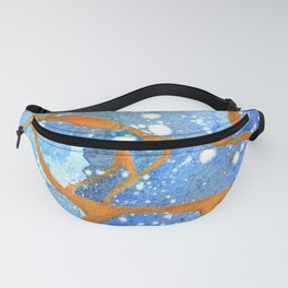 Kintsugi inspired watercolor Fanny Pack